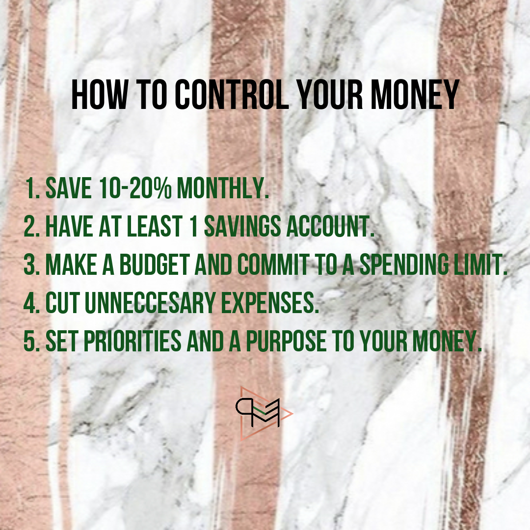 How to control your money