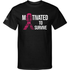 Motivated to Survive Black T-shirt