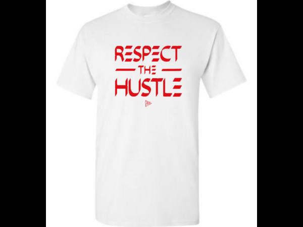 Respect the Hustle T - White.Red