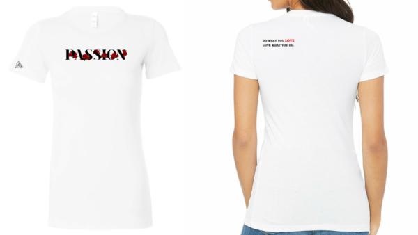Women White P3M Passion shirt