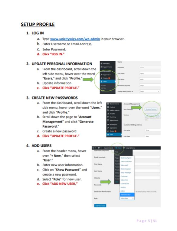 Website Instruction Manual